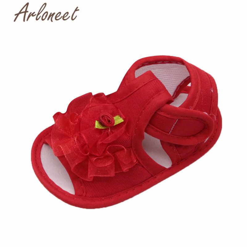 ARLONEET 2019 ทารกแรกเกิดเด็กทารกผ้าฝ้ายผ้าใบรองเท้าลูกไม้ดอกไม้พิมพ์รองเท้าผ้าใบ Toddle เด็ก Crib รองเท้า