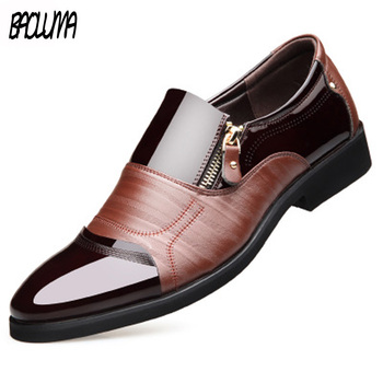 Brand New Men Dress Shoes Retro Bullock Design Men Classic Business Formal Shoes Pointed Toe Leather Shoes Man Oxford Moccasins