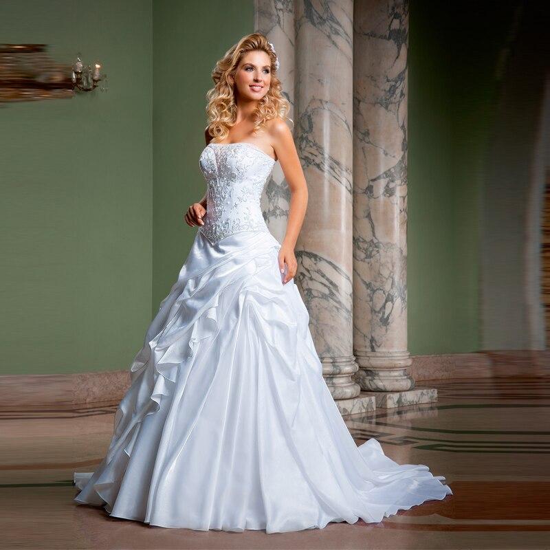 Sexy Strapless Vestido De Novia A Line Simple Wedding