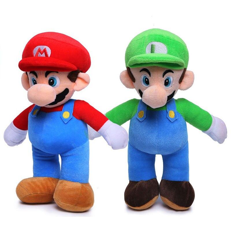 25cm Super Mario Bros Luigi Plush Toys Super Mario Stand Mario Brother Stuffed Toys Soft Dolls For Children High Quality G0166