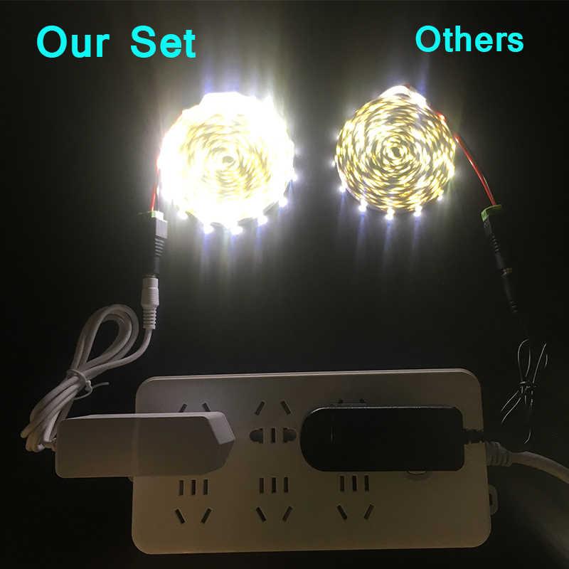 1M 2M 3M 5M/Pack 3528 SMD LED RGB Strip light More Brighter Than 2835 SMD  DC 12V 60LEDs/M Indoor Decorative Tape White Blue Red