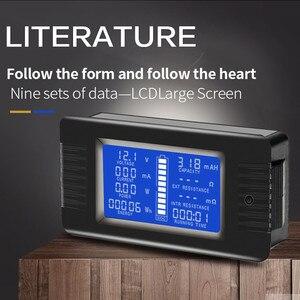 Image 5 - Peacefair Tester baterii rozładowania pojemności, moc amperomierz woltomierz licznik energii impedancja odporność PZEM 015 200v 100A bocznik