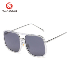 TIIYUSTAR 2019 New Fashion trend metal square sunglasses men and women universal sun visor UV400 7764