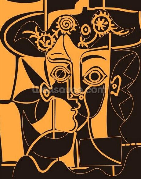 Bekend Custom retro behang, Oranje Picasso muurschilderingen voor #NS31