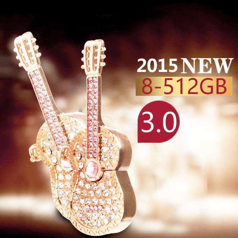 Hot Selling Jewelry Gift Mini Usb Flash Drive 128GB Guitar 3.0 Cle Usb Creativo Pendrive 1TB 2TB Pen Drive 8GB 16GB 32GB 64GB