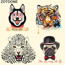 ZOTOONE Tiger Patches Iron on Heat Transfer for Kid Clothing Cartoon Animal DIY Stripes Applique T-shirt Custom Sticker