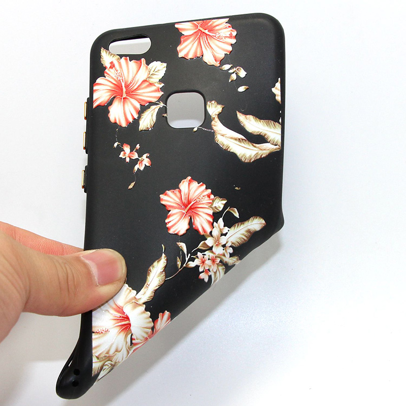3D Relief flower silicone huawei P10 lite (33)