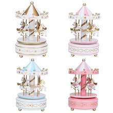Caixas de música caixa de música merry-go-round caixa de música carrossel presente de presente de aniversário de casamento de natal decoração de presente para namorada