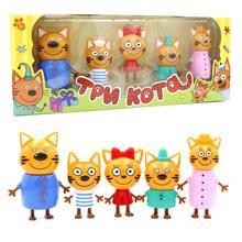 5 шт русские три счастливых кота котята фигурки Куклы русские кошки фигурки животных детские рождественские игрушки Opp мешок