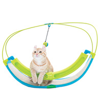 Cat Toy Pet Exercise Puzzle Cradle Tent Hammock Hanging Bed Scratch Board Cat Lounge Bell Ball Scratching Nest Tenets PT0069