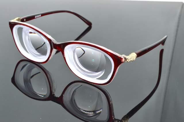 1eaa7eab04 placeholder Clara Vida Limit!! Red Fashion Street girl s high myopia high  myopic myodisc goc glasses