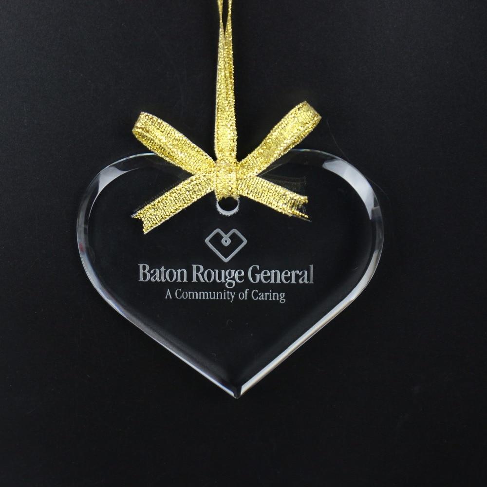 Herzförmige Kristall Hängende Weihnachtsschmuck Anhänger Hochzeit - Partyartikel und Dekoration