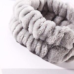 Повязка для волос, флисовая, на резинке