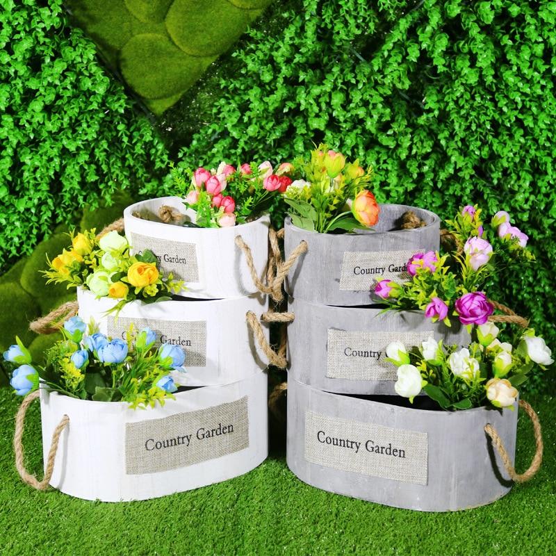 Sen accessoires de mariage disposition pré-fonction zone décoration en bois caisse ornements pelouse mariage décoration extérieure fenêtre disposition accessoires