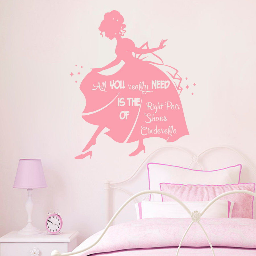 popular princess wall decals buy cheap princess wall decals lots girls room wall decals beautiful princess quotes all you really need is the right pair of