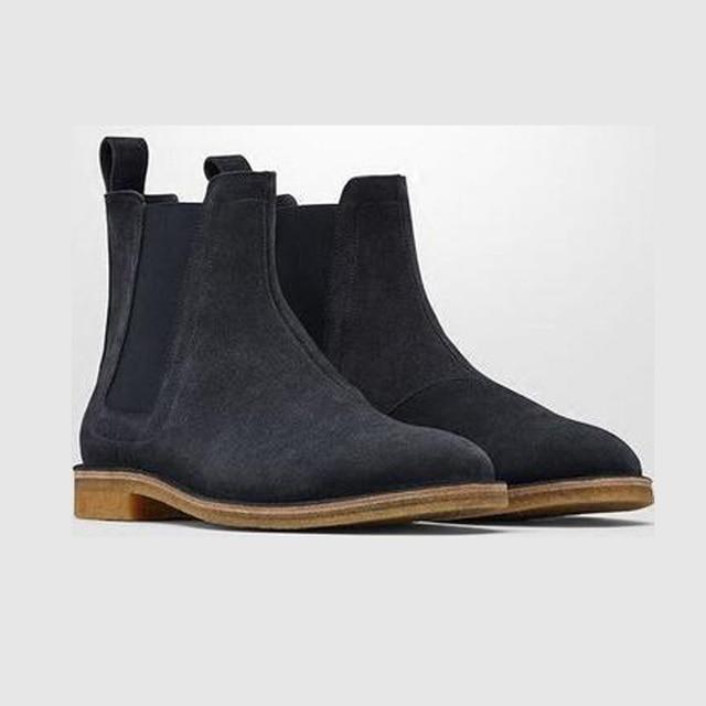 BLK TEE Brand Designer Chelsea Boots European Style Slp Genuine ...