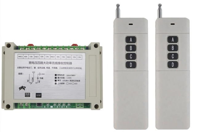 AC220V 380 V 4CH 30A relais RF Kabellose Fernbedienung System/Motor ...