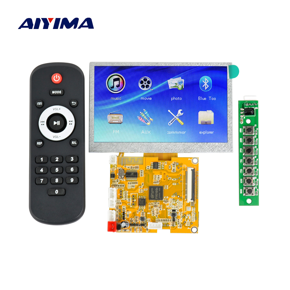 Aiyima LCD Lossless Bluetooth Decoder DTS FLAC APE AC3 WAV MP3 Decoder Board Decode free shipping cs4398 decoder board bluetooth cs4398 lme49720 usb decoder board i2s transmission