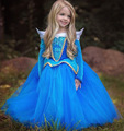 Bella Durmiente princesa Aurora traje vestidos rosa vestidos de la muchacha de halloween navidad fiesta de cumpleaños de princesa vestido infantil