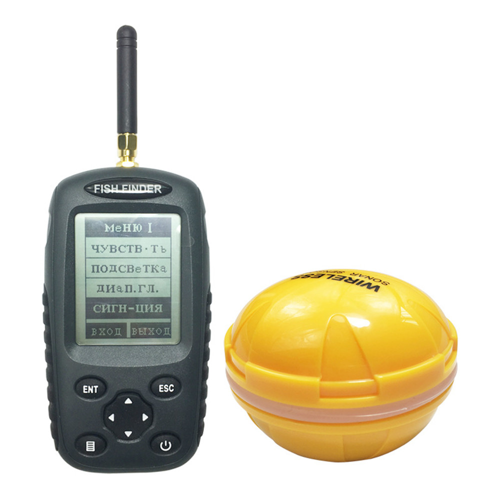 45 Degree 0.7m to 45m Fish finder Portable Sonar Alarm Fish finder Visual Wireless LCD Display Echo Sounder Fish Finder Detector lucky ff718li w portable fish finder wireless sonar fishfinder 45m fish depth alarm echo sounder