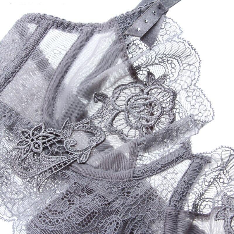 Image 5 - New Gather Adjusted Thin Cup sexy Lingerie Bra Set Underwear Transparent Temptation Sexy Bra Set For Women-in Bra & Brief Sets from Underwear & Sleepwears