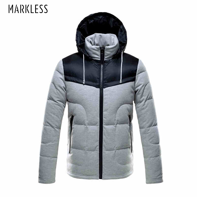 Markless Winter Thick 90% White Duck Down Jackets Men Brand Clothing Men Fashion Winter Warm Coats Outerwear Warm Parka