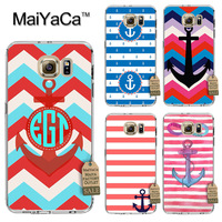 MaiYaCa On Sale Luxury Cool Phone Case For Samsung Galaxy s7 edge Case Strip Boat Anchor Wood