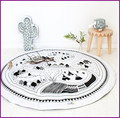 Crawling Blanket Cotton Home Padded Play Mat Round Racing Games Carpet Play Rug Kids Room Decoration