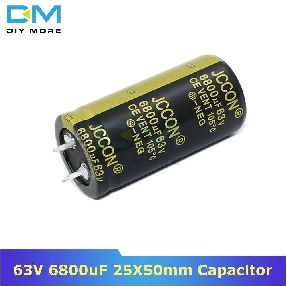 63V 6800uF 25X50mm 25x50 Aluminum Electrolytic Capacitor High Frequency Low impedance Through Hole Capacitor 25*50mm diymore image