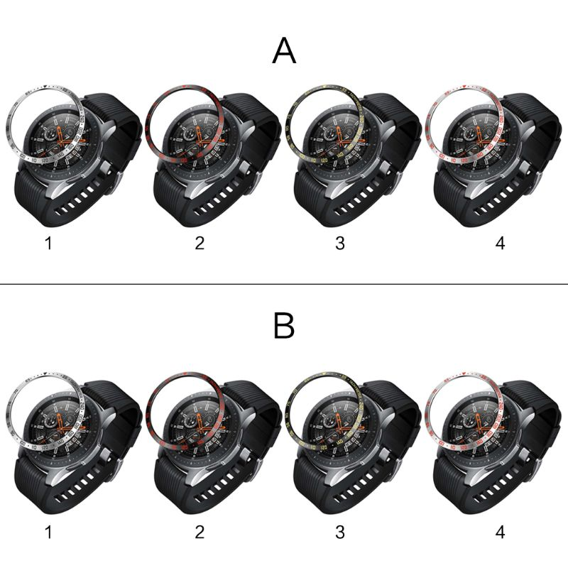 Bezel Ring Adhesive Cover Replacement For Samsung Galaxy Watch 46mm R800/42mm R810 For Gear S3/S4 Classic Strap Accessories