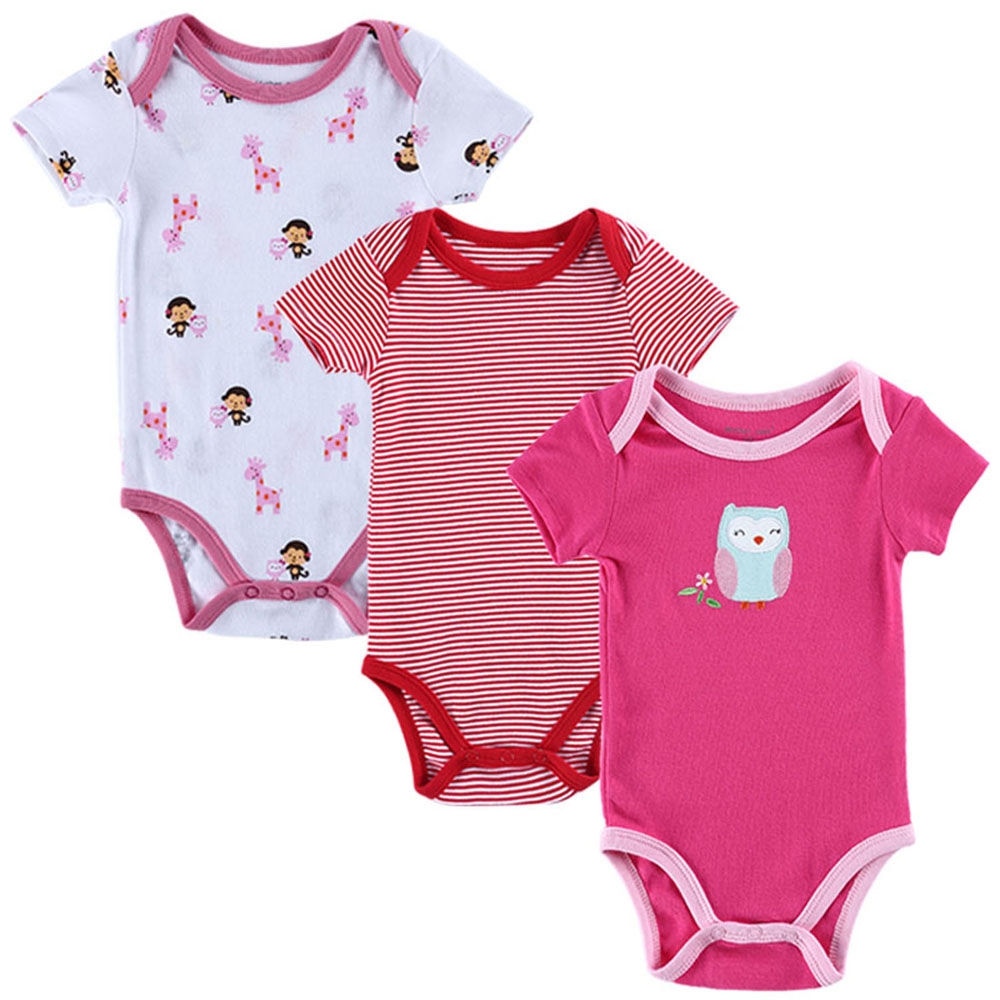 Baby Summer Bodysuits 3pcs Lot Free Shipping Newborn Baby