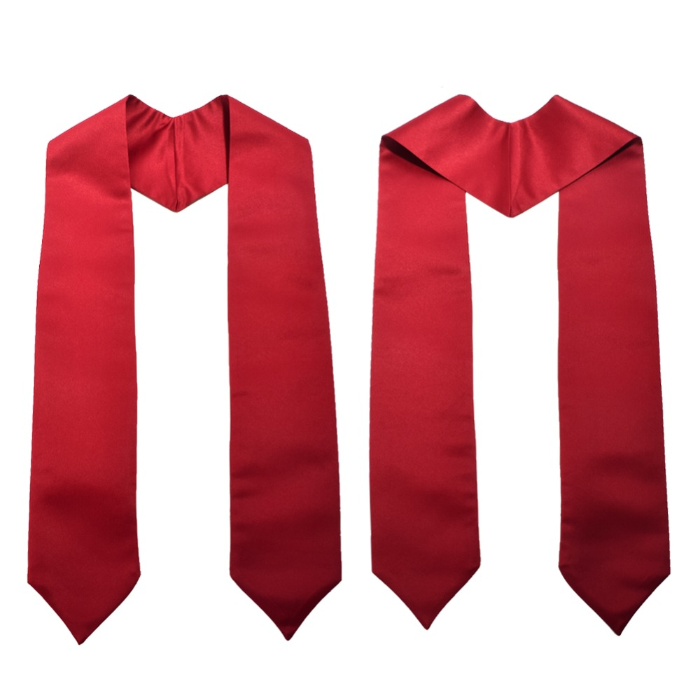 1pc Graduation Stole Unisex Adult Plain Students Long Stole 58""