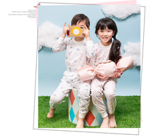 underwear cotton spring and autumn home suit air conditioning heart Fu men and women's pajamas air conditioning suit