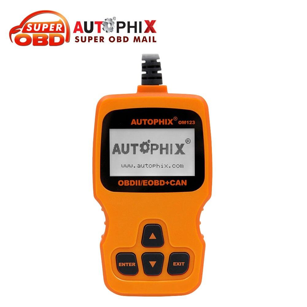 Цена за 2017 AUTOPHIX OM123 OBD2 инструмент диагностики авто код неисправности читатель России сканирования газодизель-анализатор лучше, чем ELM327 V1.5