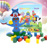 Clown Balance Bausteine Holzspielzeug Kinder Geistigen Koordination Spielzeug