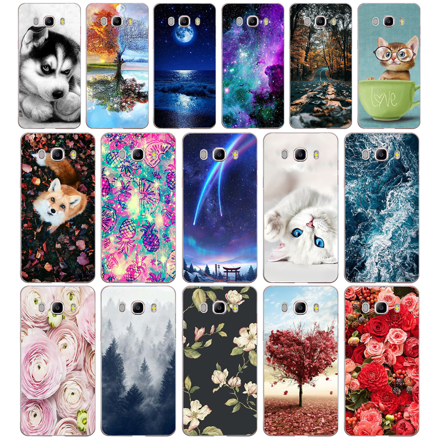 B Phone Case For Samsung Galaxy J5 2016 J510F Soft Silicone TPU Cartoon Protector Cover Cases For Samsung J5 2016 J510 Bumper