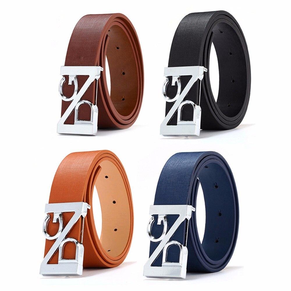 2018 New Fashion men   Belt   Cool Casual PU Leather Skinny Slender Waistband Unisex leather men luxury   belt