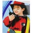 Envío Libre Fireman Sam Niños de Halloween Cosplay para el Vestido de Lujo de la muchacha del muchacho de halloween cosplay del partido 110-130 CM F-0961