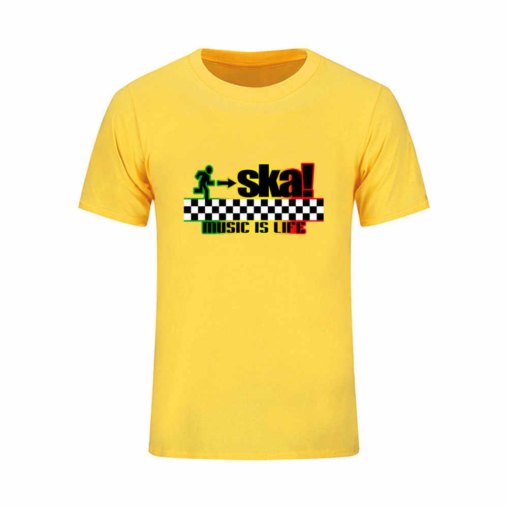 2018 Nieuwe kleding katoen comfortabele ska music is life mannelijke t-shirt print tshirt homme t-shirt mannen fitness crossfit Zomer top