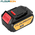 FLOUREON 18V 4000mAh Battery Power Tools Batteries Replacement Cordless for DeWalt Drill DCB181 DCB182 DCD780 DCD785 DCD795