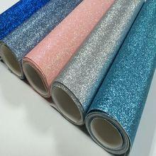 Красочные Тонкие Блестки Ткань блестящий материал 30*138 см мини рулоны пришить, клей или высечки, обои, Diy ремесло, банты для волос