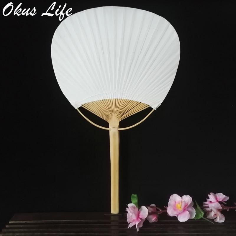 20pcs 10pcs/lot Japanese Creative DIY Decor Fan Blank Graffiti Art Wedding White Paddle Fan Wedding Party Home Decoration