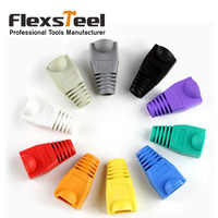 10 Pcs Soft Plastic Ethernet RJ45 Cable Connector Boots Plug Cover Strain Relief Boots Home Network Tools Kit Multicolor