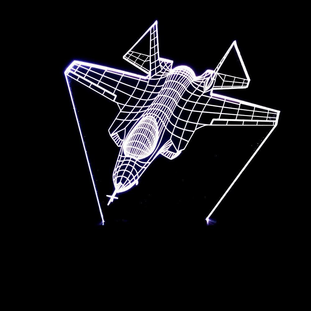Air Plane 3D Night Light Color Visual Aircraft Desk Lamp Home Decor LED USB Baby Bedside Sleep Lamp Kids Xmas Gift Light Fixture