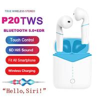 P20 TWS Bluetooth 5.0 Wireless Earphone Super Bass Headset with Wireless Charging for Huawei iPhone for Airpods