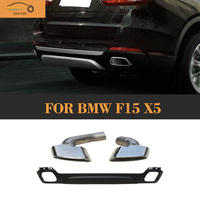 Car Styling PP Car Rear Diffuser With Exhaust Tip for BMW F15 X5 Standard Bumper 2015 2016