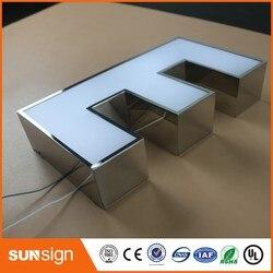 Venta al por mayor de Tablero de muestra de letras LED de acero inoxidable