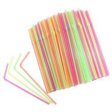 IALJ Топ 100 шт одноразовые Коктейльные трубочки, пластиковые соломинки для питья на день рождения, свадьбу, детский душ, торжество и вечерние