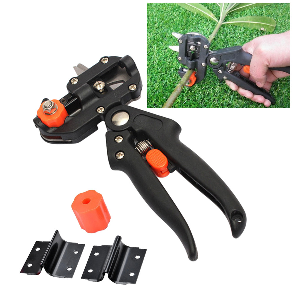 Hot Garden Tools bulk price Grafting Pruner Chopper Vaccination Cutting Tree Gardening Tools with 2 Blade Plant Shears Scissor