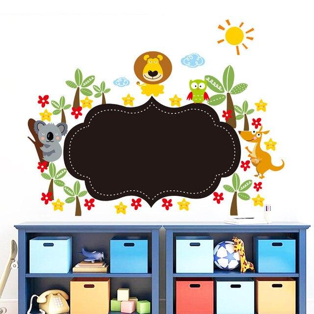 Jungle wild animal blackboard stickers children's room ...